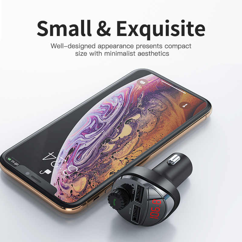 KUULAA Sạc Xe Hơi với Bộ Phát FM Bluetooth Thiết Bị Thu Âm Thanh MP3 Người Chơi Thẻ TF Xe Bộ 3.4A Dual USB Điện Thoại sạc