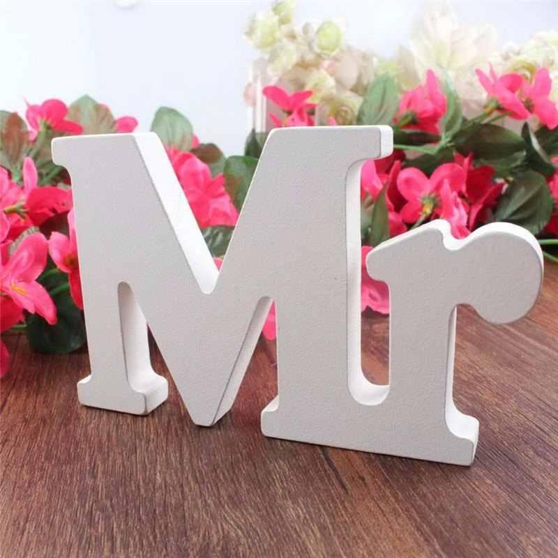 3 ピース/セットウェディングパーティーの装飾夫妻白文字結婚式装飾提案について婚約パーティー装飾