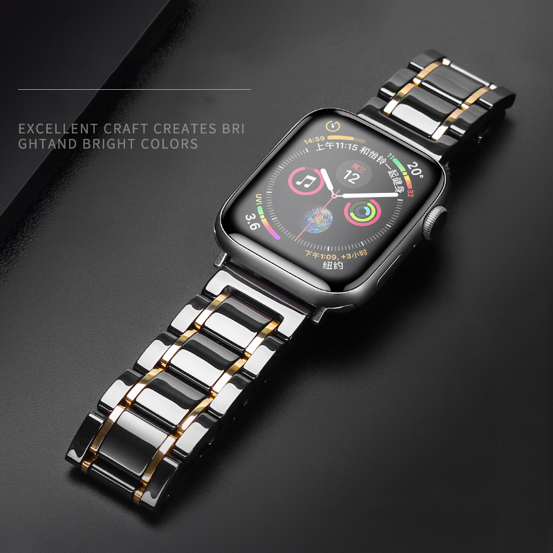 Ceramic Strap for Apple Watch 5 Band 44mm 40mmm Luxury Ceramic bracelet iWatch series 3 4 5 band 42mm 38mm 40 44mm Accessories