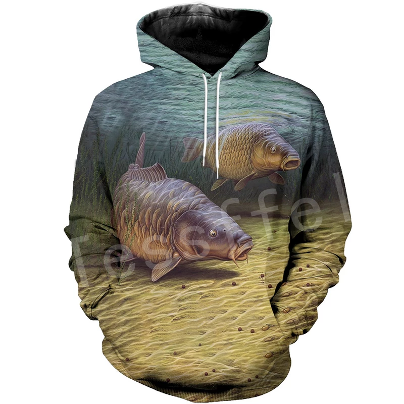 Tessffel New Fashion Animal Fishing Art Colorful Casual Tracksuit 3D Full Print Hoodie/Sweatshirt/Jacket Mens Womens S-12