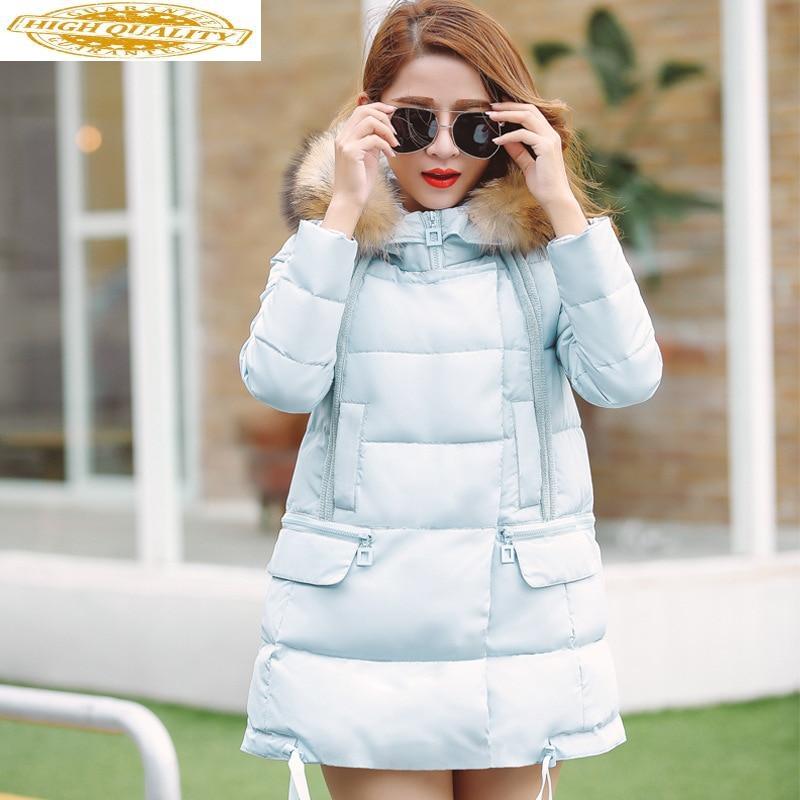 White Duck Down Jacket Women Autumn Winter Coat Female Korean Pink Parka Femme Women's Jackets Chaqueta Mujer KJ646