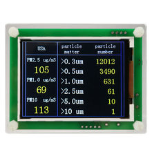 2.8inch Chargable Dust Sensor Air Quality Detector PM2.5 Easy Operate LCD Display Accurate Digital TFT Screen Module Household(China)