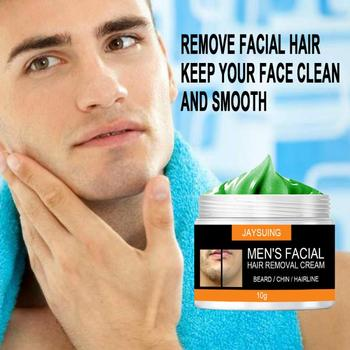Krem do depilacji włosów męski krem do depilacji twarzy krem do depilacji brody bezbolesny delikatny kojący delikatny skóry narzędzie do usuwania włosów TSLM1 tanie i dobre opinie Mężczyzna CN (pochodzenie) other Wholesale Dropshipping