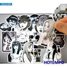 20 pçs tomie espiral horror japonês estilo mangá adesivos para diy computador portátil mala telefone almofada skate terror anime decalques adesivo