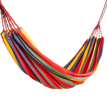 Camping Hammock Portable Hanging Hammock Folding Striped Hanging Chair Large Hammocks With Rope And Storage Bag For 1-2 Person