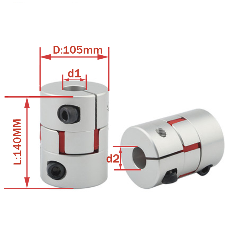 Plum coupling D105 L140 inner hole 35/38/40/42/45/50/55/60mm star engraving machine servo motor coupler D105L140