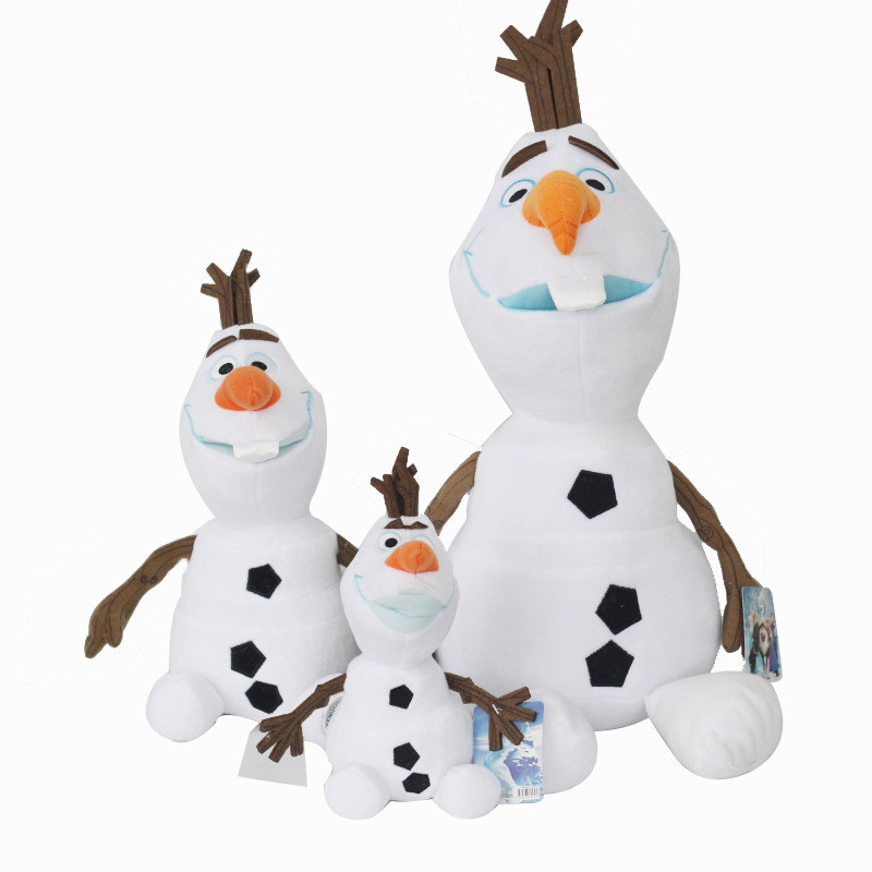 Olaf Plush Toy Snowman Doll Princess Elsa And Anna Movie Cute Stuffed Snowman Cartoon Dolls & Accessories Birthday Gift For Kids