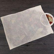 Уникальный бытовой прочный хлопок шнурок многоразовый травяной чай кофе суп сок мешковины еда винный погреб фильтр для супа марля мешок
