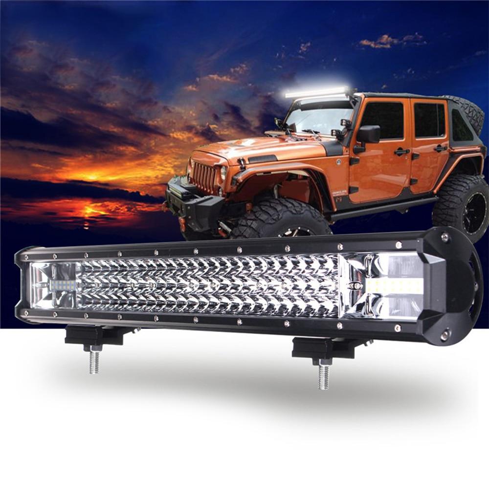 22 Inch 648W LED Work Light Bar Flood Spot Combo Driving Lamp Car Truck Offroad