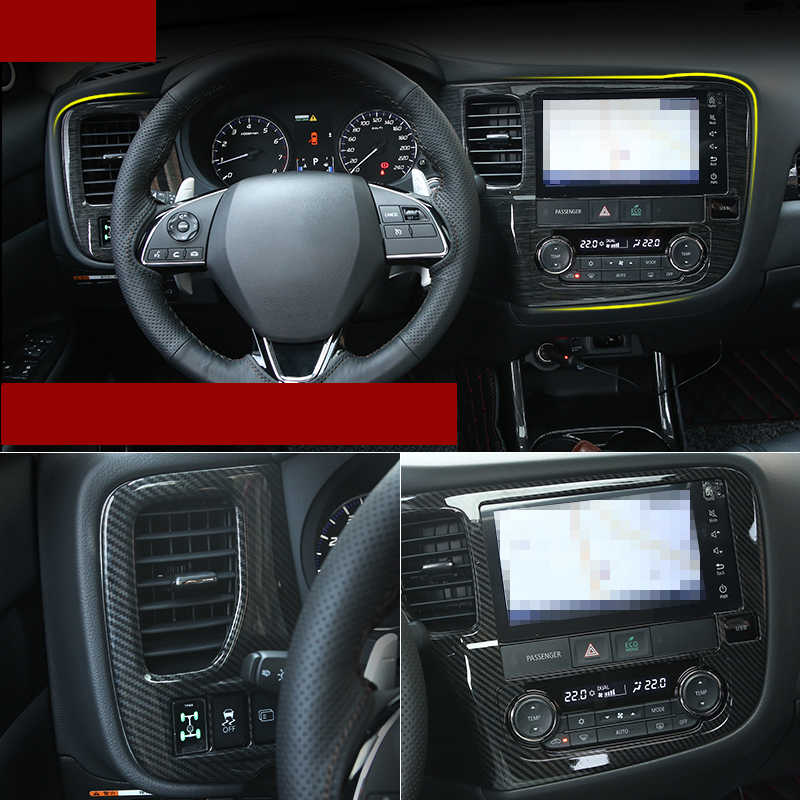Lsrtw2017 Abs Auto GPS Screen Frame Trims voor Mitsubishi Outlander 2016 2017 2018 2019 Interieur Accessoires Chrome