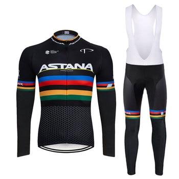 2020 preto astana roupas de ciclismo bicicleta jérsei secagem rápida dos homens roupas verão equipe ciclismo jérsei 9dgel bicicleta shorts conjunto 7
