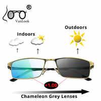 Óculos de leitura bifocal computador photochromic camaleão lente anti azul luz de raio bloqueando óculos de visão das mulheres dos homens + 1.5 2 2.5