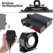 12V 400W 9 Tone Loud Car Warning Alarm Police Siren Horn Speaker with MIC System  New
