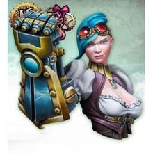 1/12 fantasy moderne vrouw buste Resin figuur Model kits Miniatuur gk Unassembly Unpainted