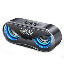 Baykuş Bluetooth hoparlör çift hoparlör çalar saat Mini Stereo hoparlör DU55