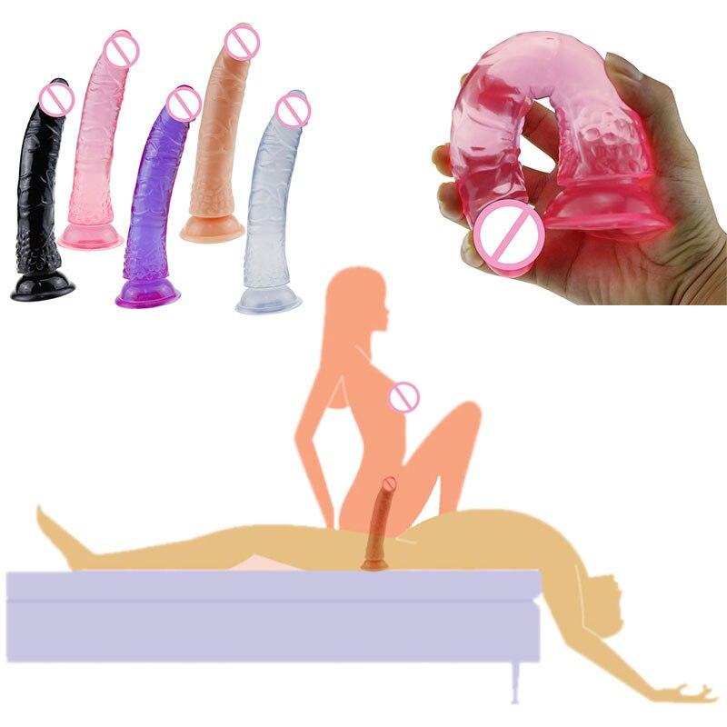 Lesbian Masturbator Male Organ Strapon Big Dildo Realistic Huge Dildos Anal Adult Erotic No Vibrator Sex Toys For Woman Couples