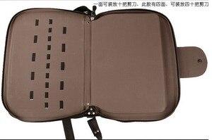Image 3 - Peut mettre 60 pièces ciseaux Portable similicuir cheveux ciseaux sac insérer style ciseaux Case sac de rangement clins outils sac