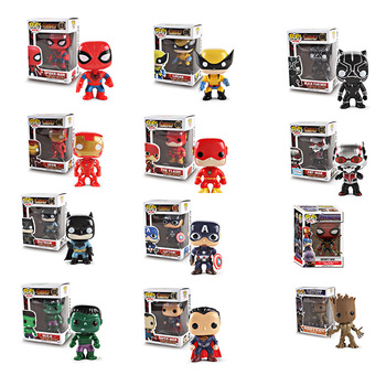 FUNKO POP Action Figure Toys  Avengers 4 Marvel  Infinite War American Captain Spider-Man Model Toy for children Birthday gift halloween toy gift marvel avengers action figure collection 27cm pa captain america model doll movable decorations