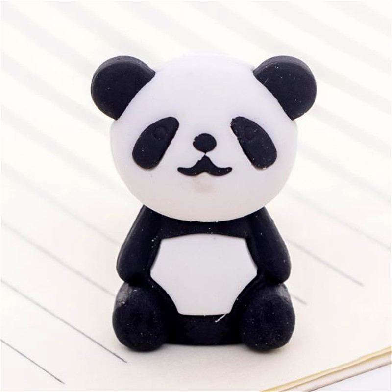 1pc Cute Cartoon Eraser Lovely Panda Eraser Children Stationery Gift Prizes Kawaii School Supplies Papelaria