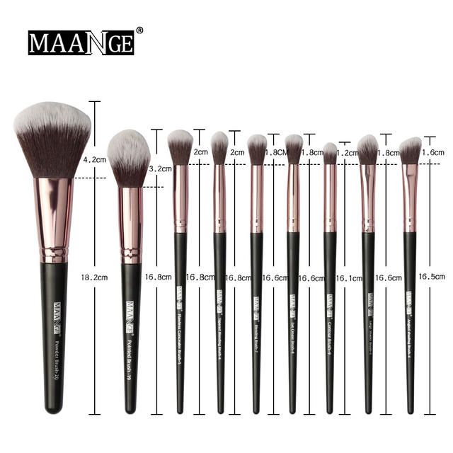 20pcs Professional Makeup Brushes Cosmetic Powder Eye Shadow Foundation Blush brow brush lip brush drop shipping 2