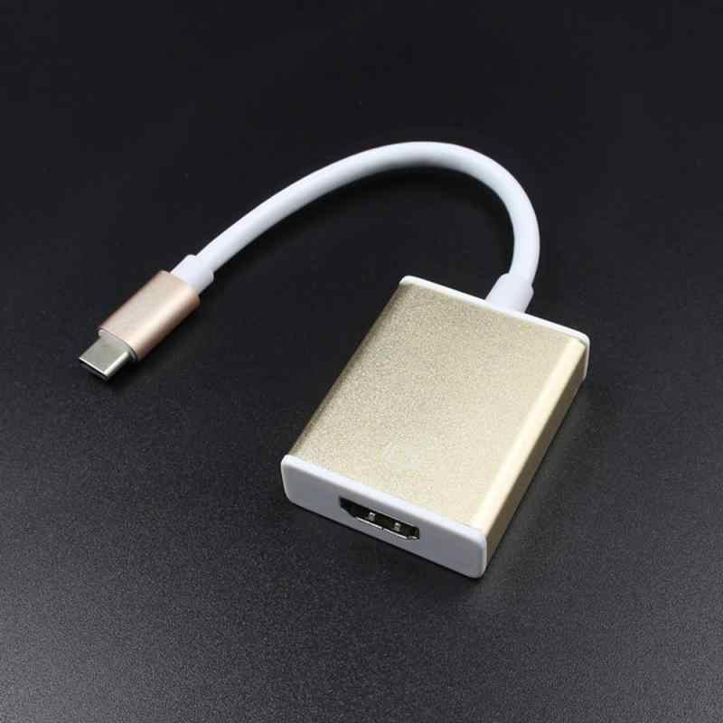 โลหะ USB 3.1 TO HDMI Type-C TO HDMI HD/Macbook USB 3.1 TO HDMI USB-C ดิจิตอล AV Multiport ADAPTER Converter