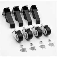 4 pièces pratique en alliage d'aluminium roulettes mobiles etabli roulettes 360 degrés maniabilité travail du bois outils de bricolage