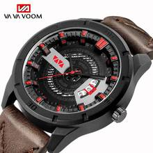 Men's Complete Calendar Watches Top Luxury Brand Fashion Sports Waterproof Watch Men Leather Band Quartz Clock Male reloj hombre цена и фото