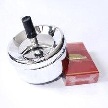 Высокое качество, аксессуары для курения, пепельница из нержавеющей стали, круглая пепельница для сигарет с вращающимся поддоном