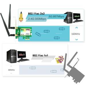 Image 2 - Ubit Bluetooth WiFi כרטיס AC 1200Mbps 7265 אלחוטי WiFi PCIe מתאם רשת כרטיס 5GHz/2.4GHz הכפול להקת PCI Express כרטיס רשת