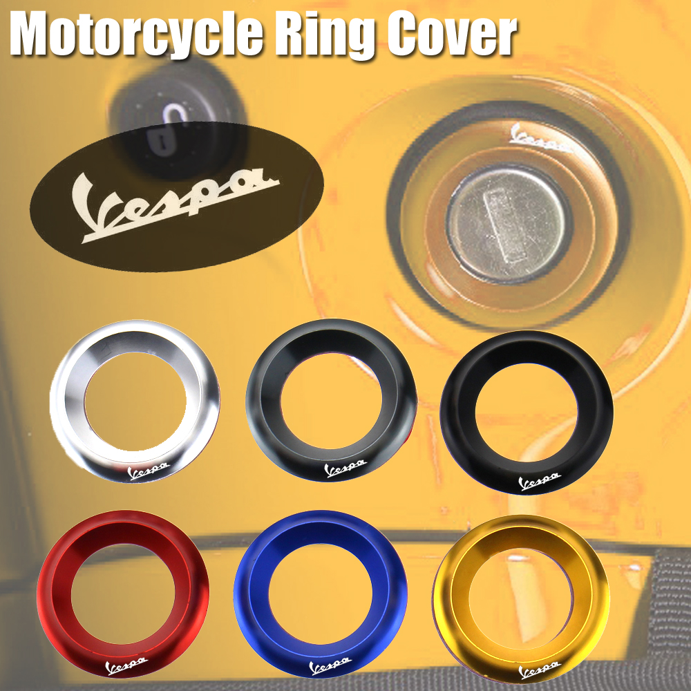 Motorcycle Ignition Switch Cover Key Switch Protector Ring Cover for Vespa GTS GTV LX PX Super Sport Sprint Primavera 150 300