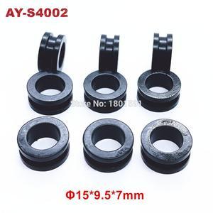 Image 4 - O envio gratuito de 500 peças grommet borracha selo 15*9.5*7mm para japão carro injector combustível repiar kits serviço (AY S4002)