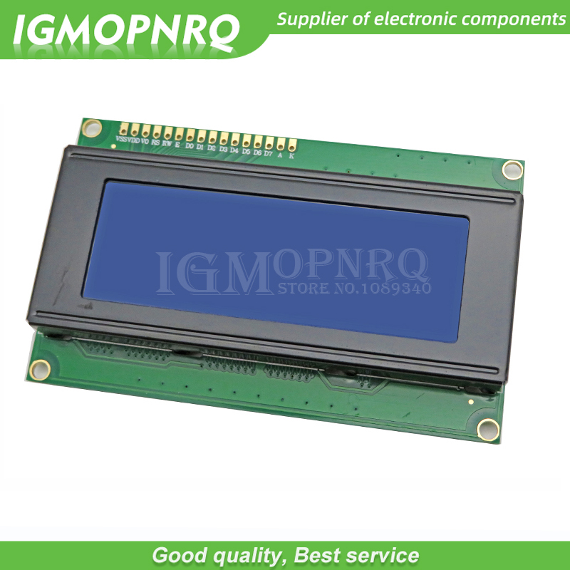 1pcs LCD Board 2004 20*4 LCD 20X4 5V Blue screen blacklight LCD2004 display LCD module Display content: 20 characters *4 line