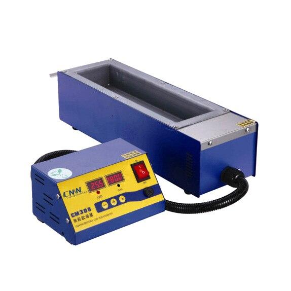 Square High Temperature Lead Free Soldering Pot Split Tin Solder Furnace Tin Melting Digital Display 220V 110V CM308 600C 1200W