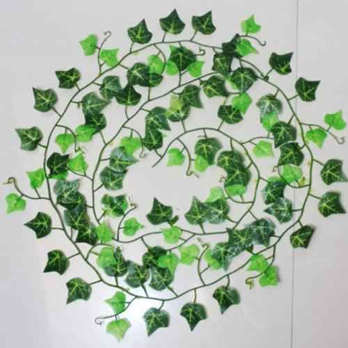 Leaf 1 piece Home Decor Artificial Ivy Leaf Garland Plants Vine Fake Foliage Flowers Creeper Green Ivy Wreath Party Decoration