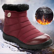Winter Boots Women Flat-Shoes Ankle-Botas Female Waterproof Plus-Size Mujer 43 No Non-Slip