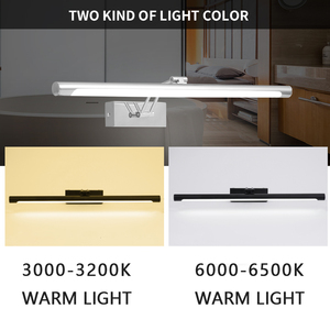 Image 2 - Modern Led Bathroom Lamp AC 90 260v 8W 40CM 12W 55CM  Led Mirror Light Wall Light Fixture Sconce Wall Lamp Bedroom Black Silver