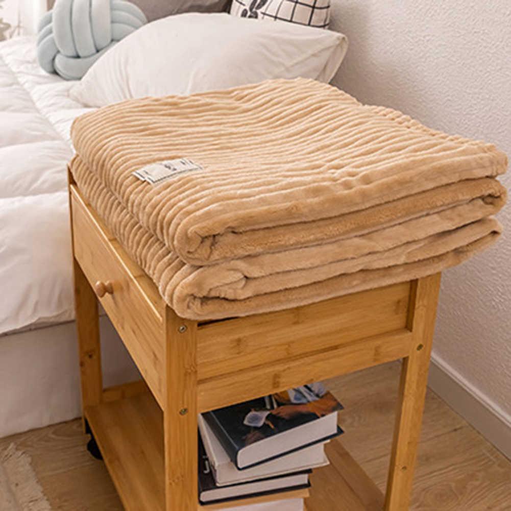冬無地厚手の暖かいソファソファーベッドソフトスローブランケット寝室寝具