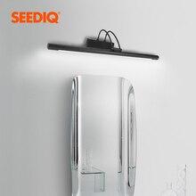 Moderne Led salle de bain lampe miroir 8W 12W AC 90 260v applique murale étanche applique murale noir argent nordique applique appliques