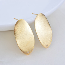 10PCS Butterfly 16*15MM 24K Gold Color Brass Stud Earrings Pins High Quality Diy Jewelry Findings Accessories