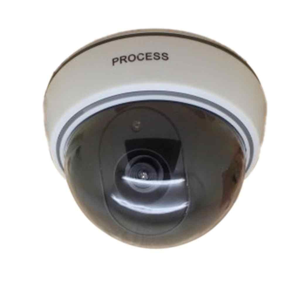 كاميرا مراقبة مستديرة مع ضوء تحذير تنبيه Theftproof كاميرا وهمية لفندق سوبر ماركت