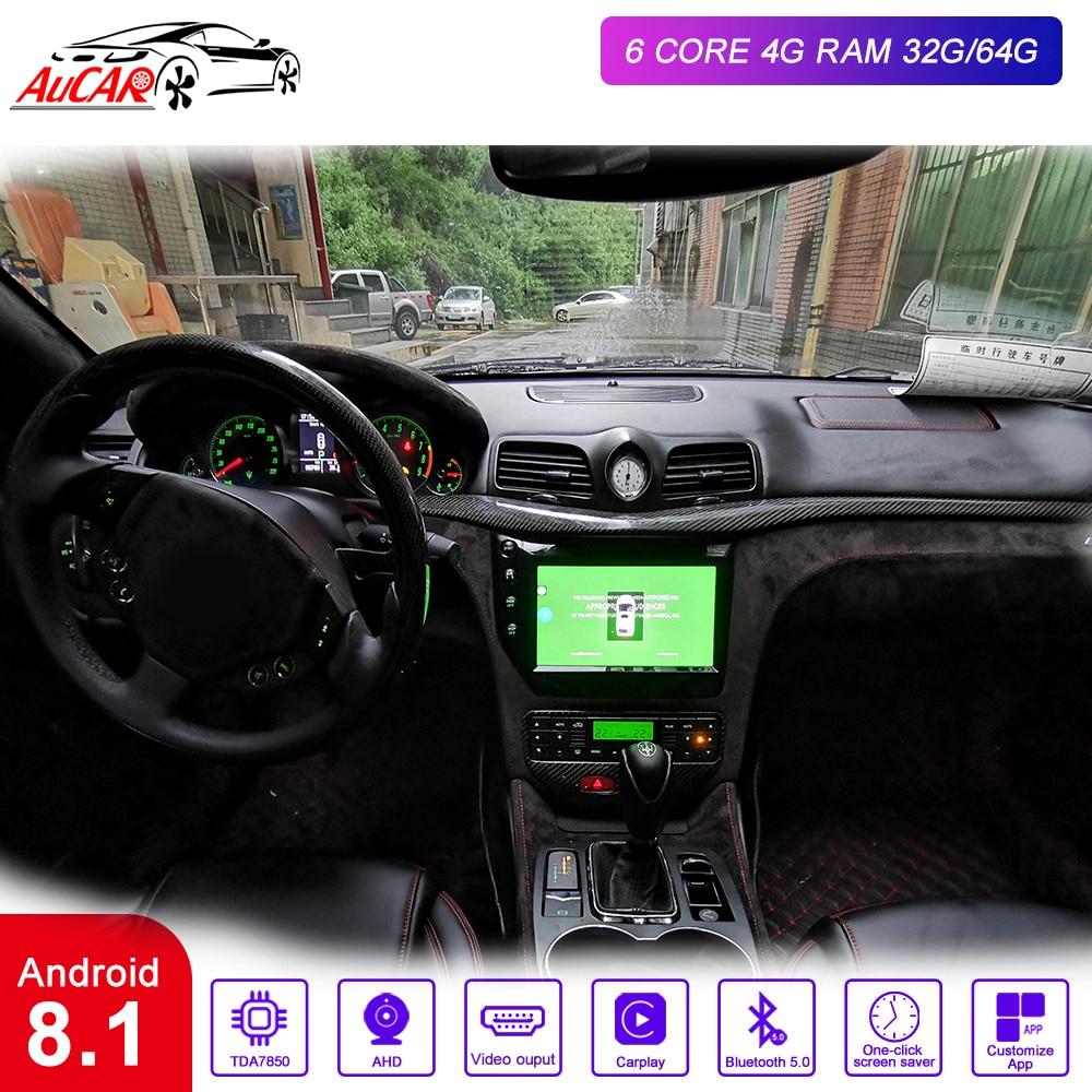 AuCAR 9 Android 8,1 DIN Автомобильный мультимедийный радио для Maserati GT/GC GranTurismo 2007-2015 gps Навигация стерео аудио DVD плеер