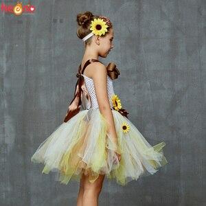 Image 3 - Платье пачка с подсолнухами и цветочным принтом