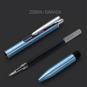Image 4 - زيبرا JJ55 الأعمال المعدنية التوقيع هلام القلم الطالب امتحان القلم طبعة محدودة الراقية قلم هدية 0.5 مللي متر