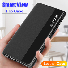 Resistant Leather Flip Case Leather Window View For Xiaomi Redmi Note 10Pro  Note 8 8T 7 Pro A3 For Xiaomi Redmi 9 8 9a 7 Cover