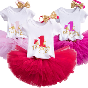 My Little Baby Girl 1 Year Birthday Dress Unicorn Party Infant Christening Gown Tutu Cake Smash Baby Girl Casaul Summer Clothes