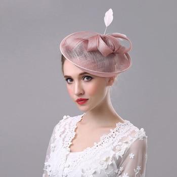 Retro Style Linen Bridal Top Hat Net Hat European British Headdress Banquet Top Hat  wedding bride hat royal hat wedding bride женская шляпа от солнца other top hat 2015 wh0273