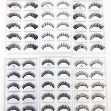 50 박스 3D 밍크 헤어 자연 십자가 속눈썹 긴 지저분한 메이크업 가짜 눈 가위 확장 메이크업 뷰티 도구 도매