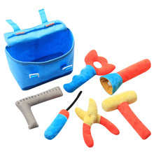 Kinderen Pluche Toolbox Set Baby Stof Gesimuleerde Reparatie Tool Pretend Play(China)