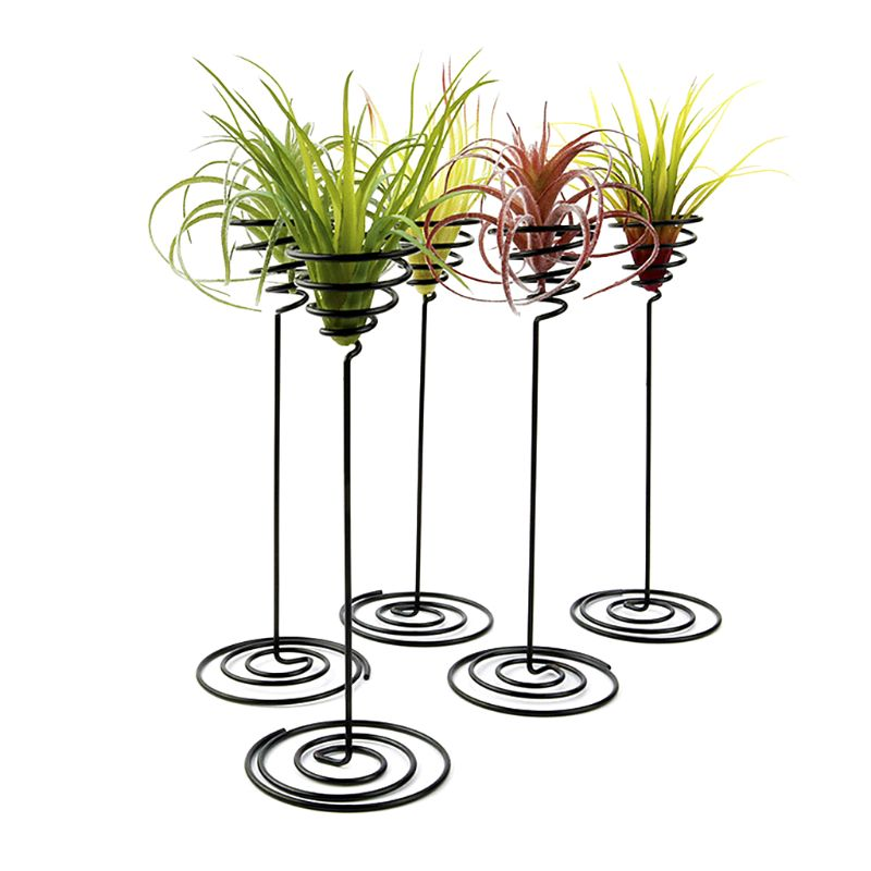 Creative Black Iron Air Pineapple Base Plant Flower Pot Rack Holder Home Balcony Garden Decor Supplies Landscape Accessories