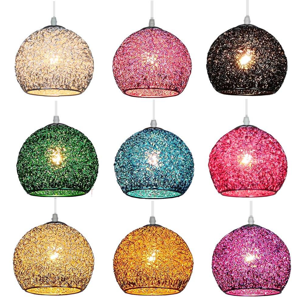 Modern LED 18CM Colorful Ball Metal Lamp Pendant Light Nordic Coffee Shop Living Dining Room Bar Bedroom Hanging Light Fixture